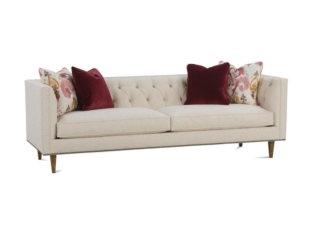 Intro Platinum Living Room Elin Tufted Low Back Sofa Elin