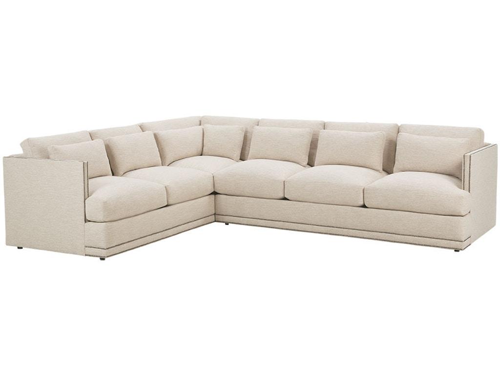 Robin bruce living room sectional oscar sect shumake for Furniture 4 less decatur al