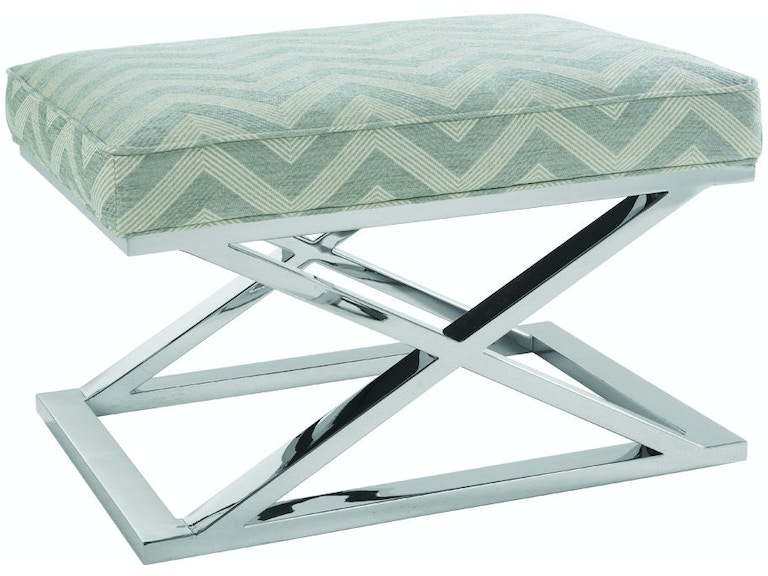 Pleasing Robin Bruce Living Room Chrome Accent Ottoman Pike C 005 Pabps2019 Chair Design Images Pabps2019Com