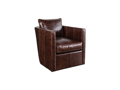 CKD Platinum Leather Swivel Chair ROTHKO-L-016
