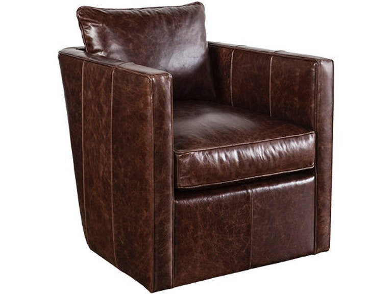 Robin Bruce Living Room Dolce Leather Swivel Chair DOLCE-L-016 ...
