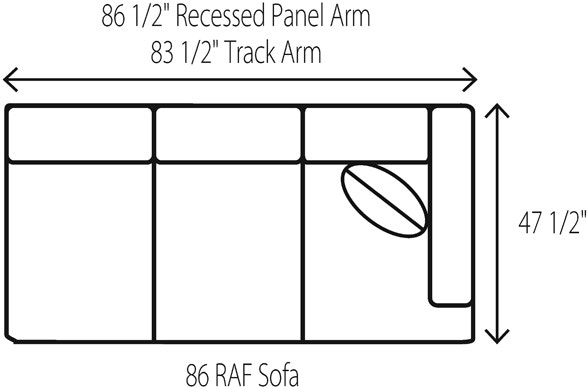 Wesley Hall Right Arm Facing Sofa 1928 86