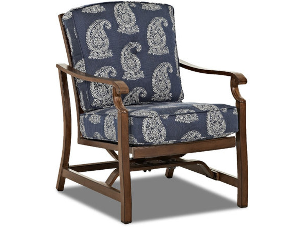 Outdoor patio trisha yearwood outdoor motion chair w9020 for Furniture kingdom