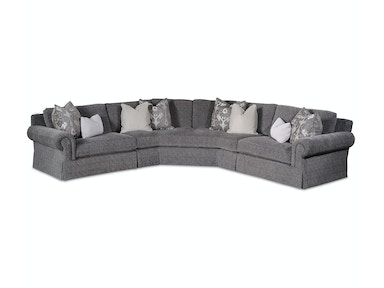 Taylor King Tremont  Skirted Sectional 3915 Sectional