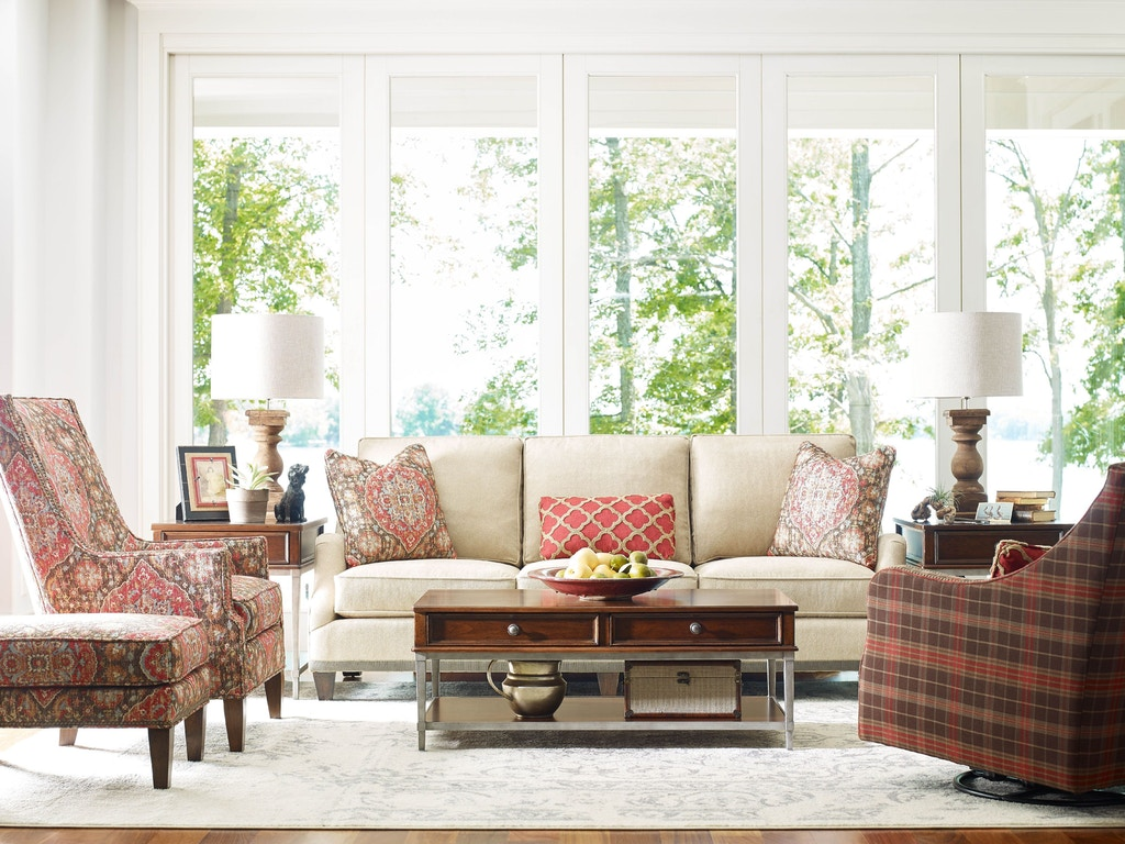 Rachael Ray by Craftmaster Living Room Sofa - Tyndall Furniture ...