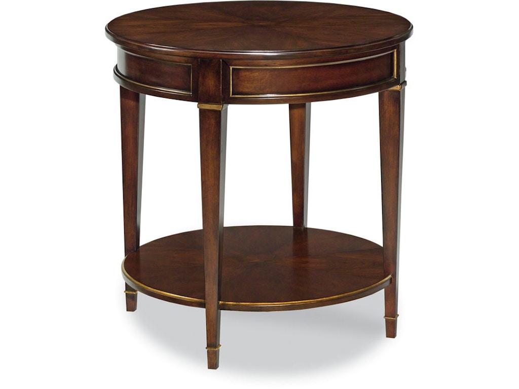 Woodbridge Furniture Living Room La Salle Side Table 1088 14 Von Hemert Interiors Costa Mesa