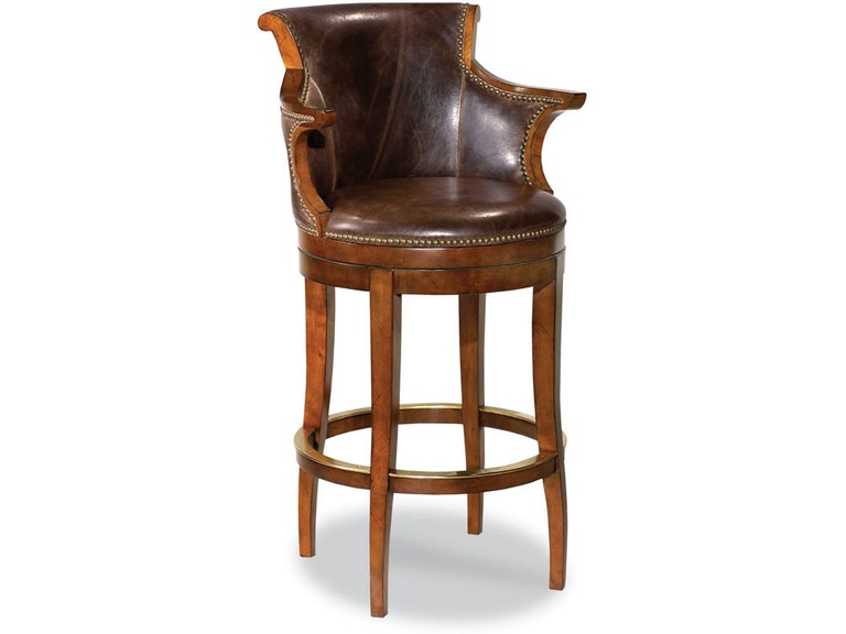 Terrific Woodbridge Furniture Bar And Game Room Swivel Leather Uwap Interior Chair Design Uwaporg