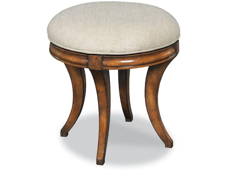 Woodbridge Furniture Bedroom Swivel Vanity Seat 7236 10 Elite