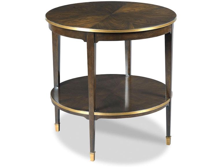 Woodbridge Furniture Living Room Emery Round Side Table Wbtf11413 Walter E Smithe Design