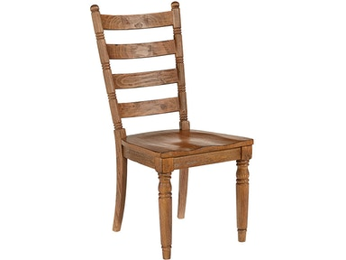 Chair, Side, Slat Back