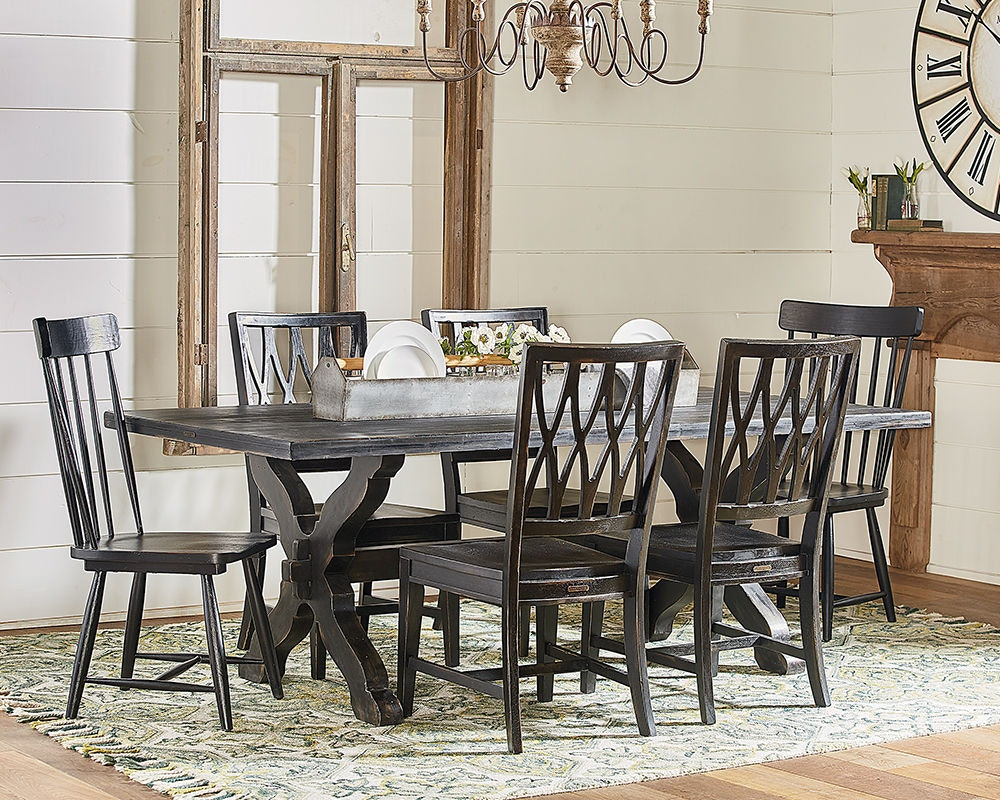 magnolia home by joanna gaines dining room table dining sawbuck
