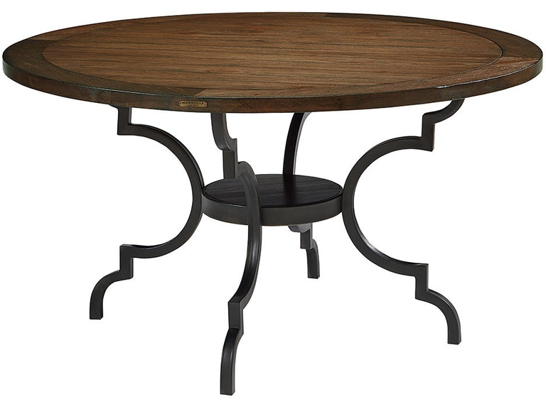 Magnolia Home By Joanna Gaines Table Breakfast Wood Top W Metal Base 3010101C