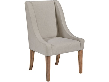 Chair, Side, Demi-wing Upholstered - Flannel