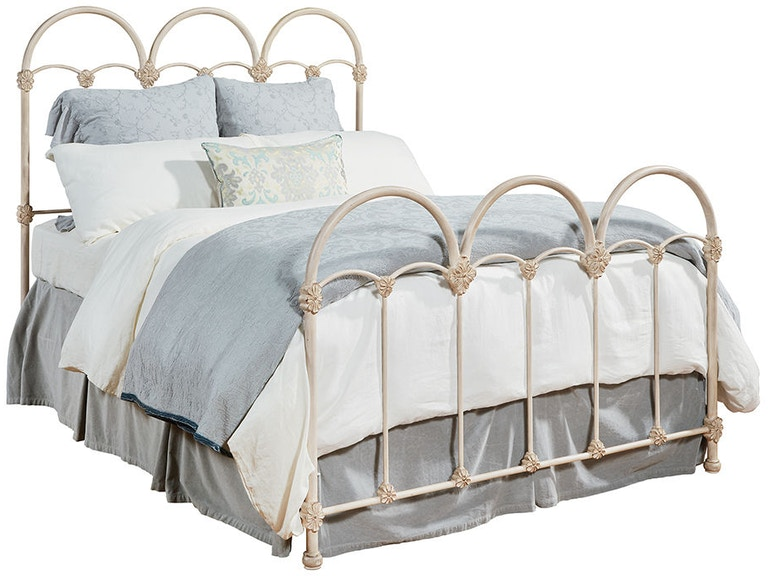 magnolia home by joanna gaines bedroom headfootboard 66 rosette iron bed 3070468g at andrews furniture - Joanna Gaines Bedroom