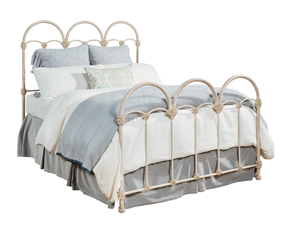 Magnolia Home By Joanna Gaines Bedroom Head/Footboard, 5/0 Rosette Iron Bed  3070467G At B.F. Myers Furniture