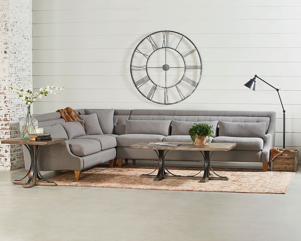 Magnolia Home By Joanna Gaines Chisel Rsf Sofa Flannel 55525341