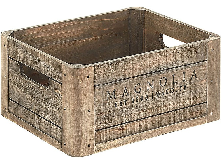 Magnolia Home By Joanna Gaines Accessories Wood Crate W Magnolia