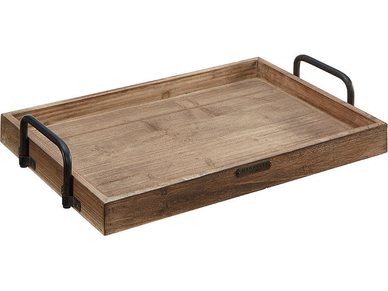Magnolia Home By Joanna Gaines Breakfast Tray Wood W Metal Handle 90902500