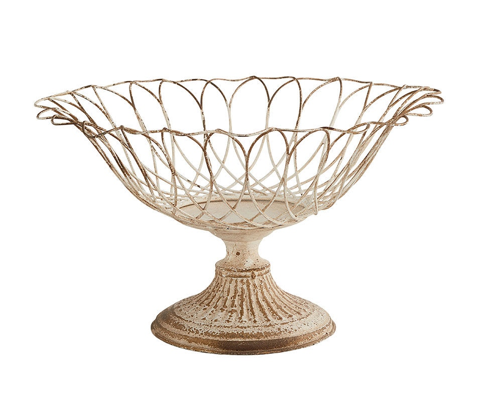 Magnolia Home By Joanna Gaines Aged Wire Botanical Footed Garden Urn,  Medium 90911004
