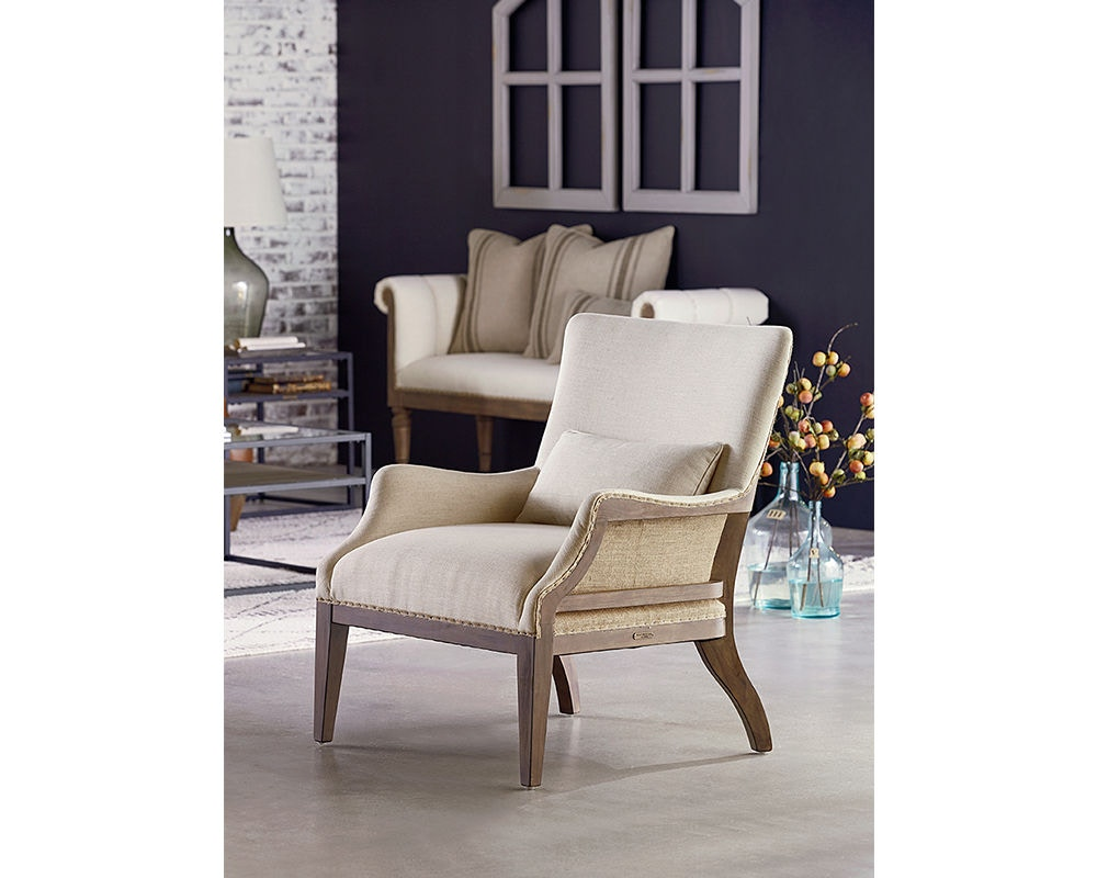 Magnolia Home By Joanna Gaines Accent Chair W/Kidney Pillow, Renew/Ivory  35602181