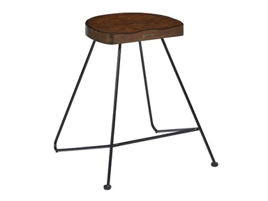 Addle Seat Stool With Wooden Seat
