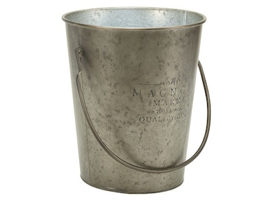 Magnolia Home by Joanna Gaines Metal Milk Bucket with Magnolia Logo 90901007
