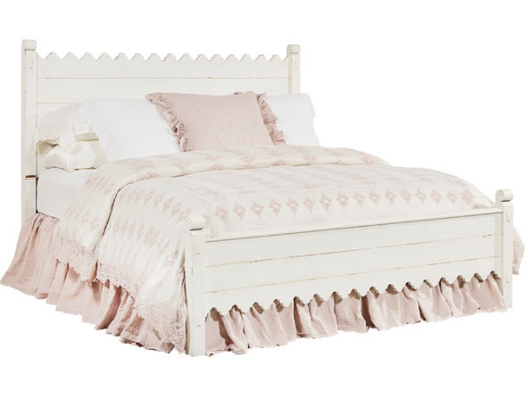 Magnolia Home By Joanna Gaines Bedroom Scallop Bed California King Footboard 6070113B At Tate Furniture