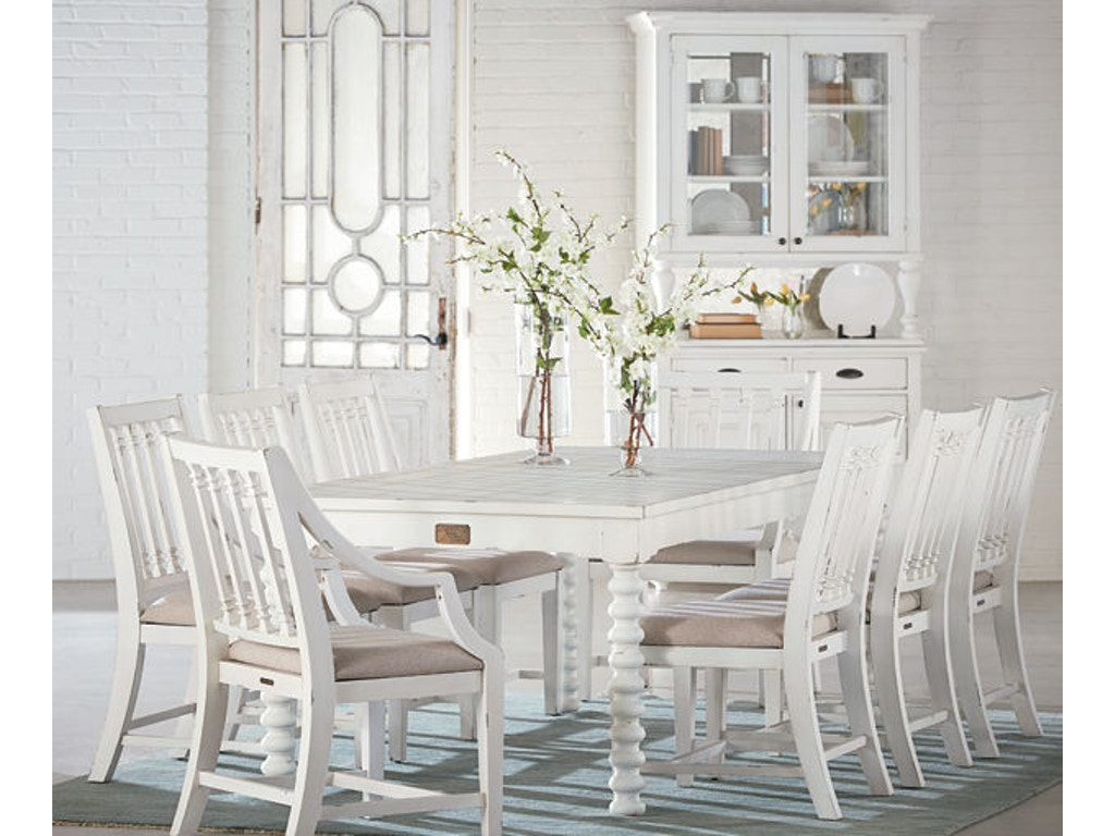 Magnolia home by joanna gaines dining room spool leg 6 for Magnolia dining table