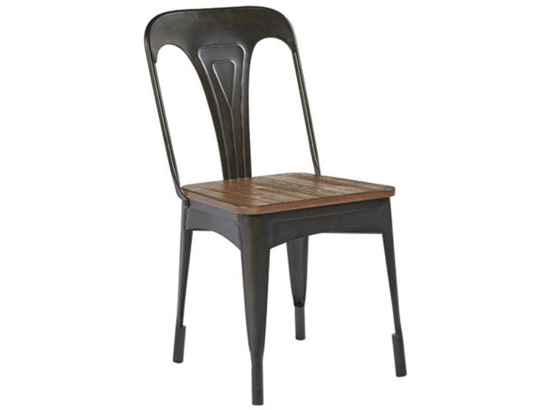 Magnolia Home By Joanna Gaines Dining Room Metal Cafe Chair With Wood Seat 5010801N At BF Myers Furniture
