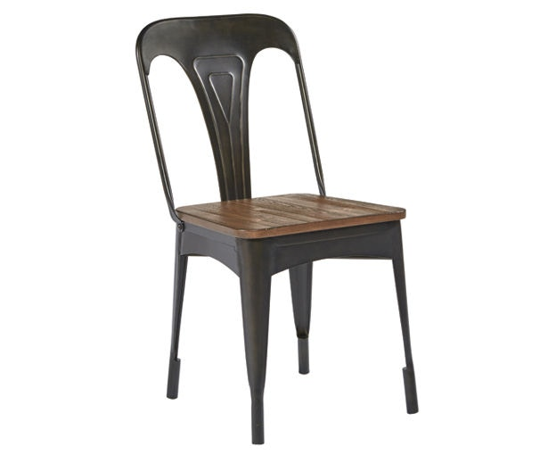 Magnolia Home By Joanna Gaines Metal Cafe Chair With Wood Seat 5010801N
