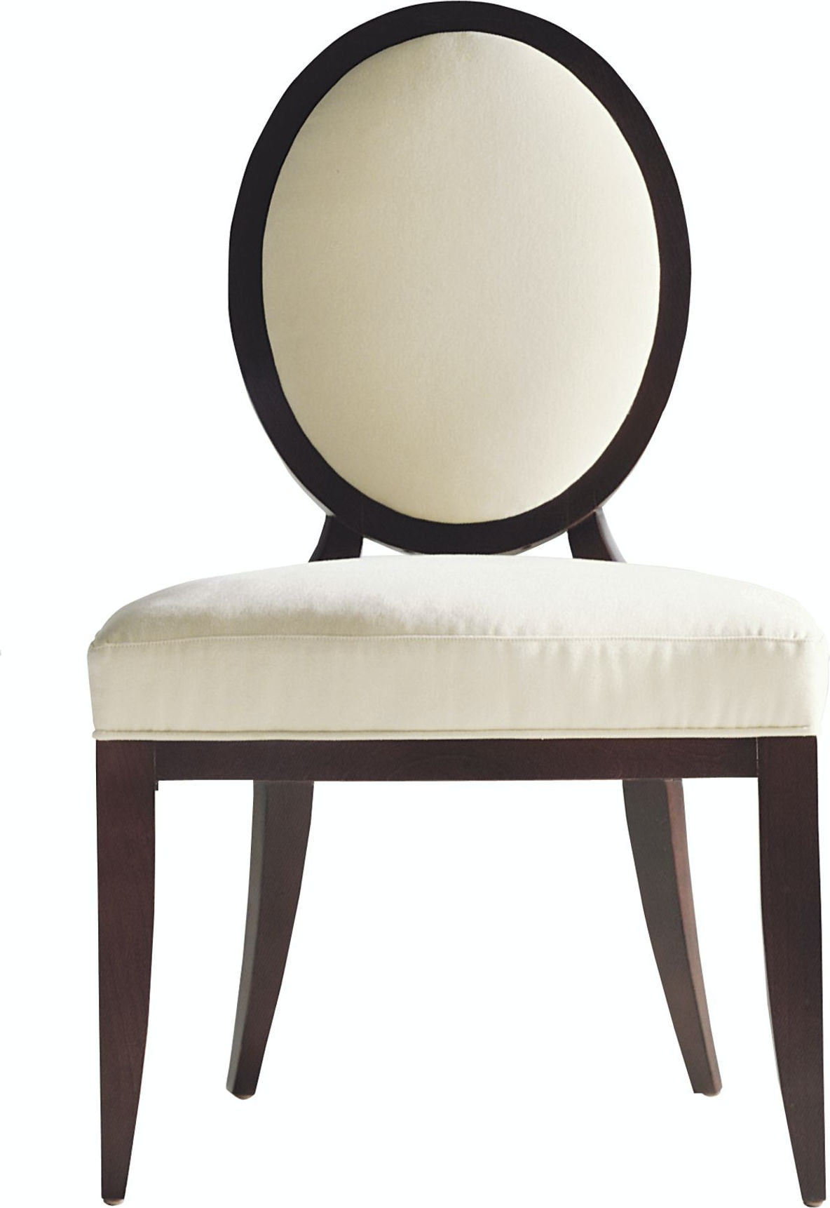 Baker Furniture Barbara Barry Oval X Back Dining Side Chair 3440