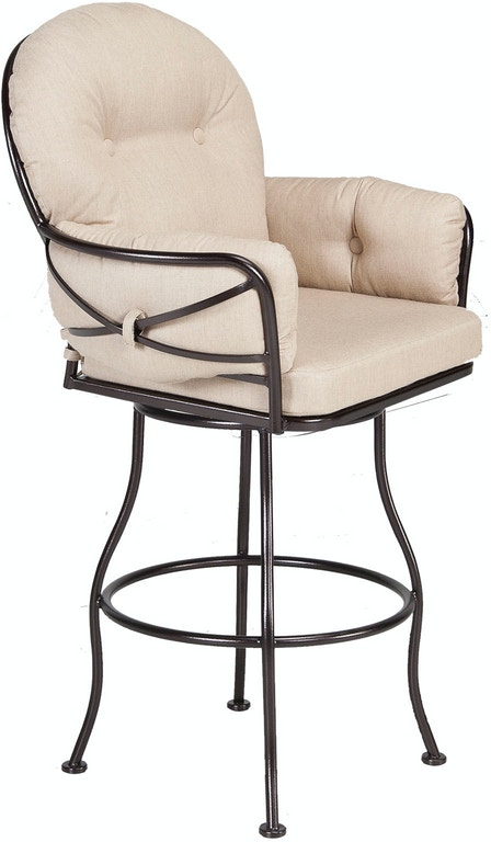 Ow Lee Outdoor Patio Club Swivel Counter Stool 17133 Scs