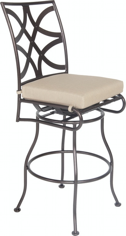 Ow Lee Outdoor Patio Armless Swivel Bar Stool 2051 Sbs