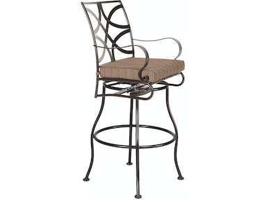 Ow Lee Outdoor Patio Swivel Bar Stool With Arms 2053 Sbs