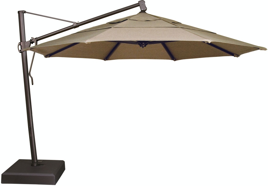 Ow Lee Outdoor Patio 13 Cantilever Umbrella With Brown