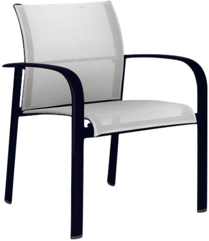 Brown Jordan Sirocco Sling Stacking Arm Chair The Fire
