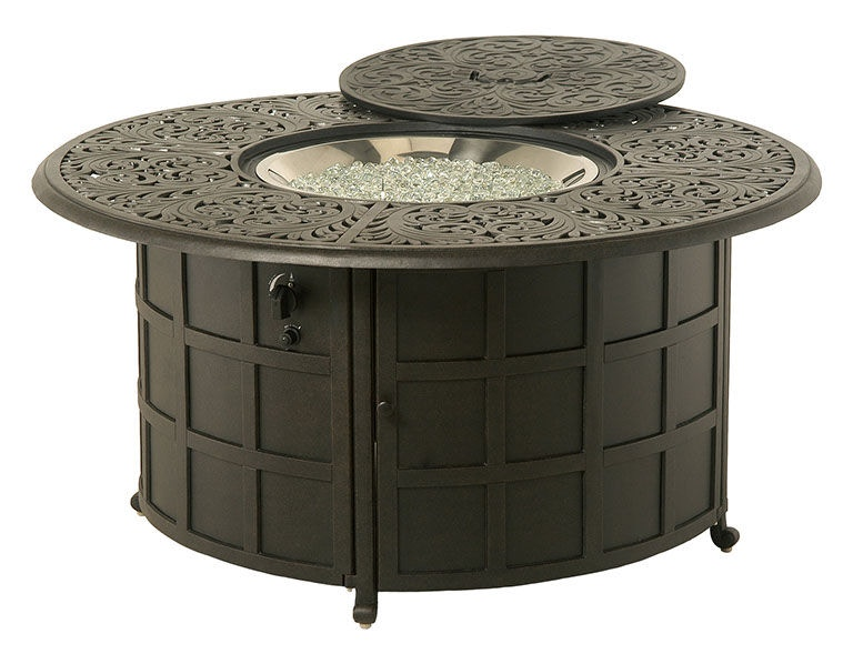 Fire House Casual Outdoor/Patio Chateau Round Gas Fire Pit L450 020091 At The  Fire House Casual Living Store