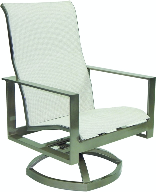 Fh Casual Custom Park Place Sling Swivel Lounge Chair