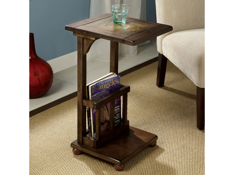 Furniture Of America Slate Insert Side Table Cm Ac093