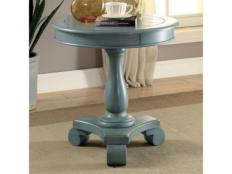 Furniture Of America Living Room Round Accent Table Antique