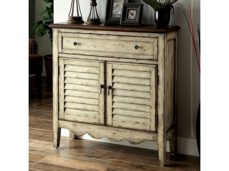 Furniture of America Cabinet, Antique White CM-AC148 - Furniture Of America Living Room Cabinet, Antique White CM-AC148