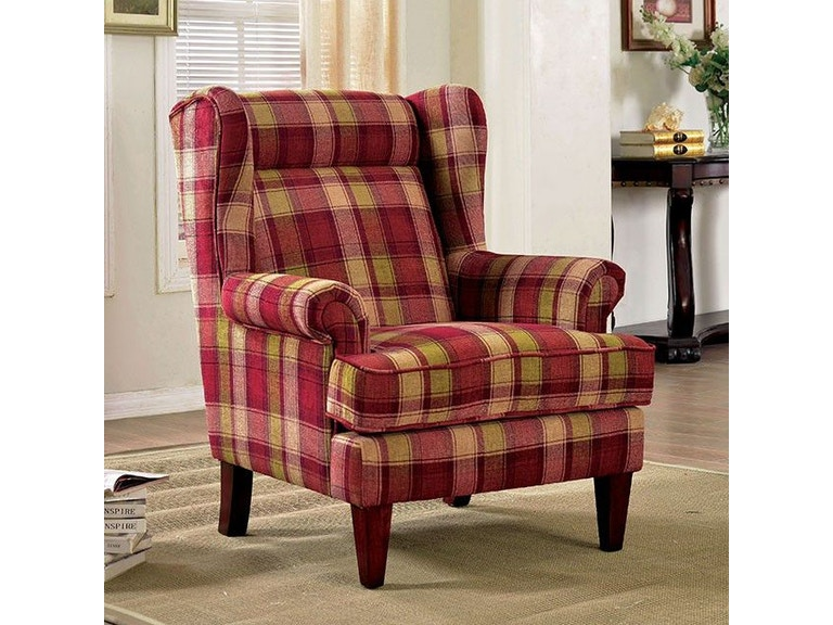 America Accent Chairs.Furniture Of America Living Room Accent Chair W Fabric Red Cm