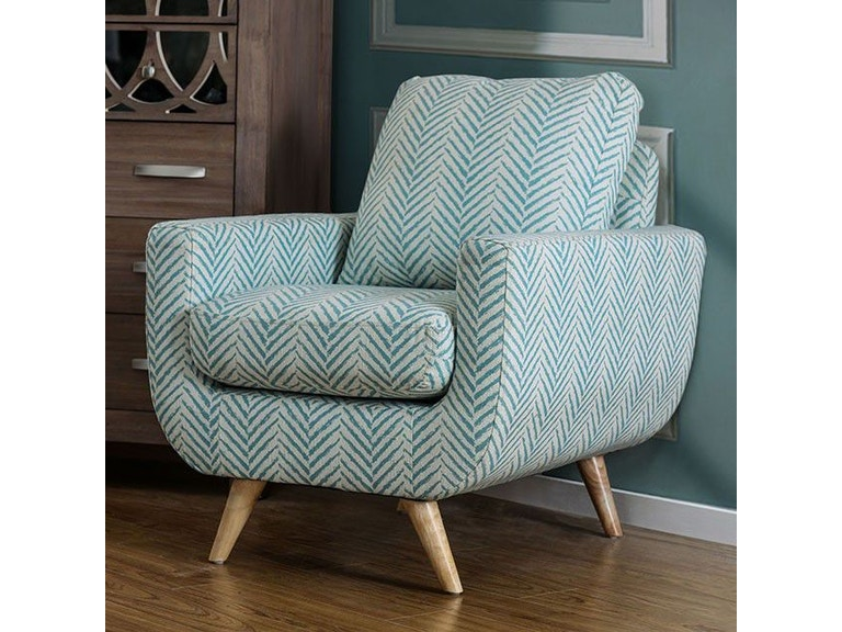 Beige Accent Chairs With Blue Stripes.Furniture Of America Living Room Accent Chair Blue Cm Ac6821bl