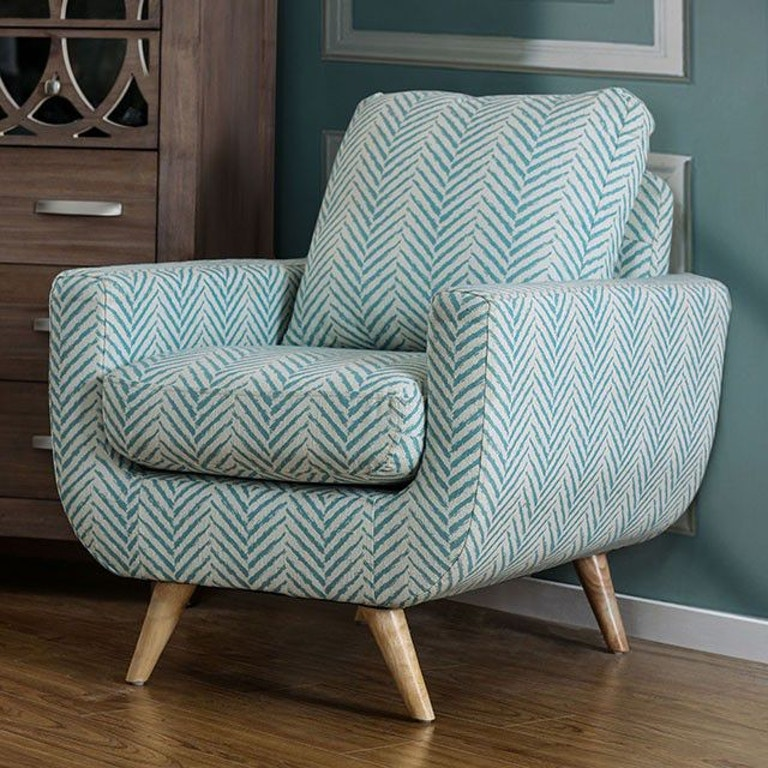 America Accent Chairs.Furniture Of America Living Room Accent Chair Blue Cm Ac6821bl