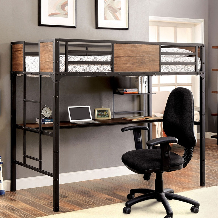 All American Furniture El Paso: Furniture Of America Youth Twin Bed W/Workstation CM