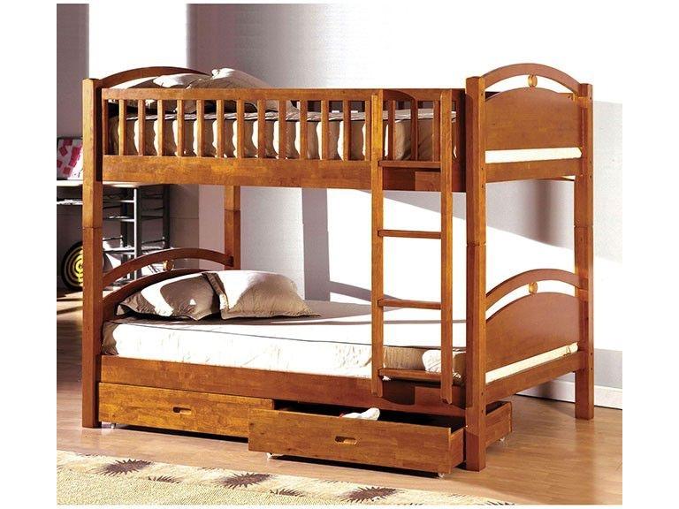 Furniture Of America Youth Twin Twin Bunk Bed W 2 Drawers Oak