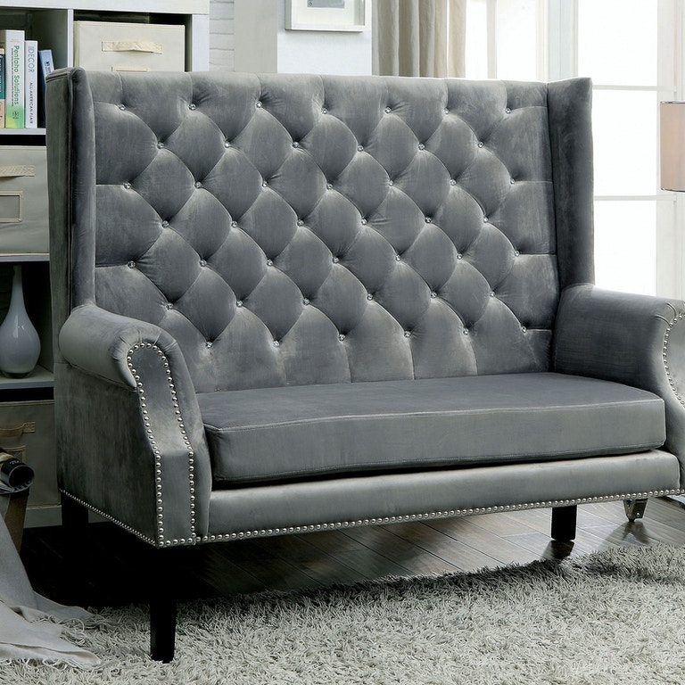Sensational Furniture Of America Living Room Love Seat Bench Gray Cm Pabps2019 Chair Design Images Pabps2019Com