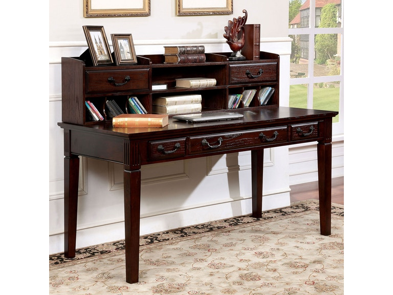 Furniture Of America Home Office Writing Desk With Hutch Cm Dk6384dl Pk Daws Home Furnishings