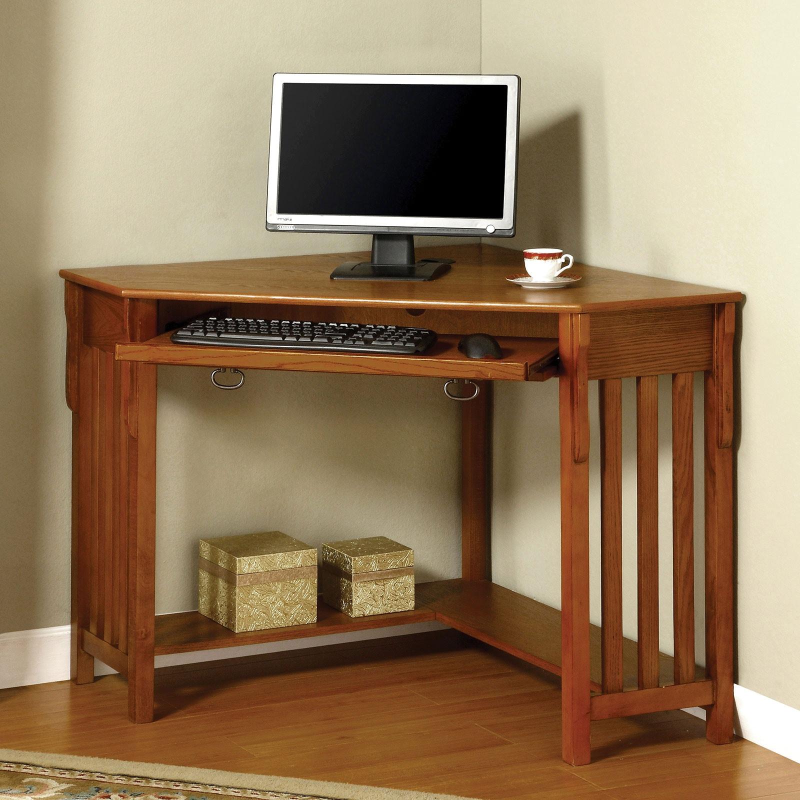Furniture Of America Corner Desk, Oak CM DK6641