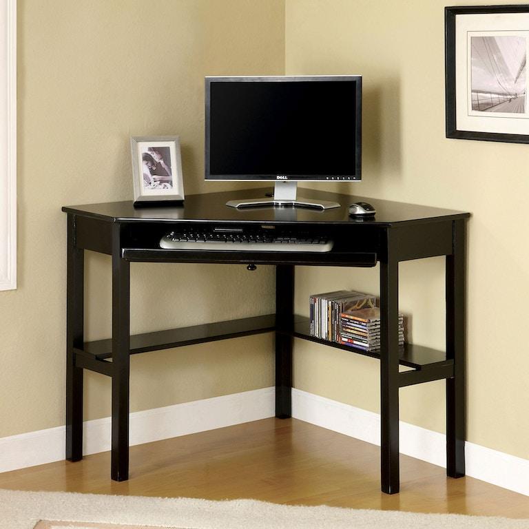 Furniture of America Home Office Corner Desk, Black CM ...